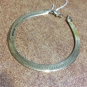 Jewelry - 14KGF Herringbone Unisex Bracelet